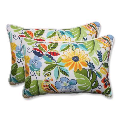 Pillow Perfect Lensing Garden Rectangular OutdoorPillow - Set of 2