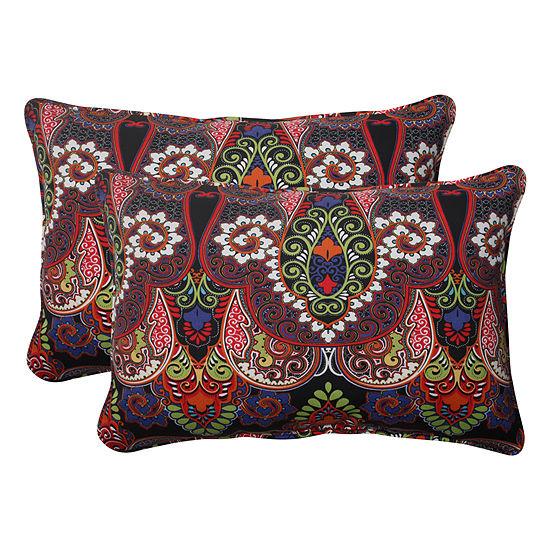 Pillow Perfect Marapi Rectangular Outdoor Pillow -Set of 2
