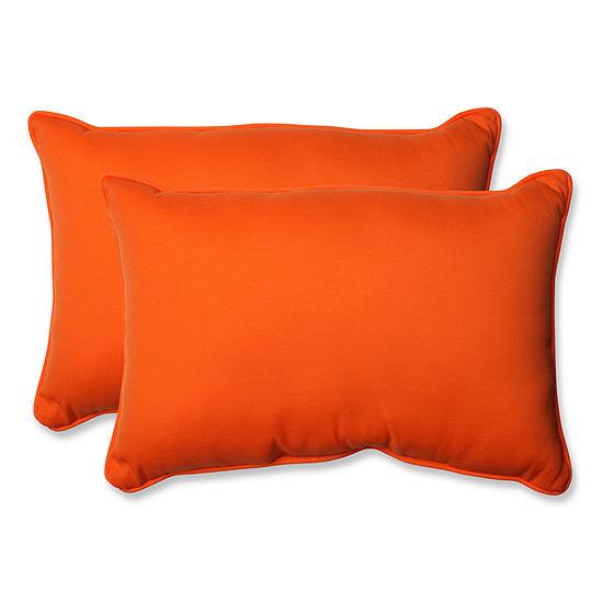 Pillow Perfect Sundeck Rectangular Outdoor Pillow- Set of 2