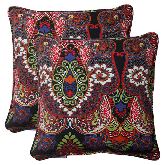 Pillow Perfect Marapi Square Outdoor Pillow Setof 2