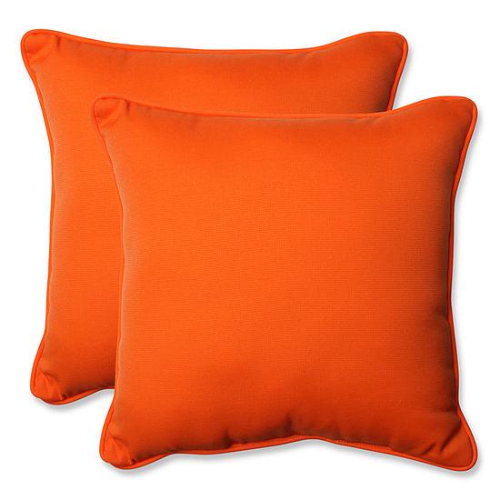 Pillow Perfect Sundeck Square Outdoor Pillow Setof 2