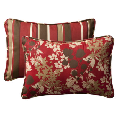 Pillow Perfect Montifleuri Monserrat Reversible Rectangular Outdoor Pillow - Set of 2