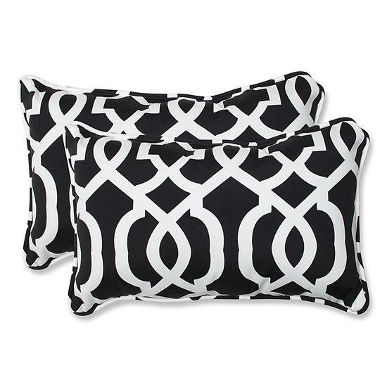 Pillow Perfect New Geo Rectangular Outdoor Pillow Set Of 2
