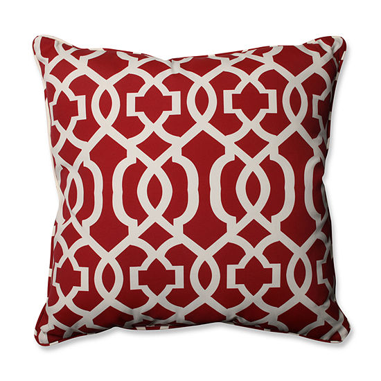 Pillow Perfect New Geo Square Outdoor Floor Pillow