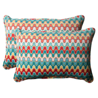 Pillow Perfect Nivala Rectangular Outdoor Pillow -Set of 2