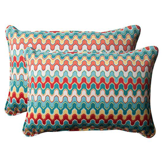 Pillow Perfect Nivala Rectangular Outdoor Pillow -Set of 2