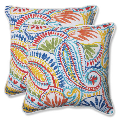 Pillow Perfect Ummi Square Outdoor Pillow - Set of2