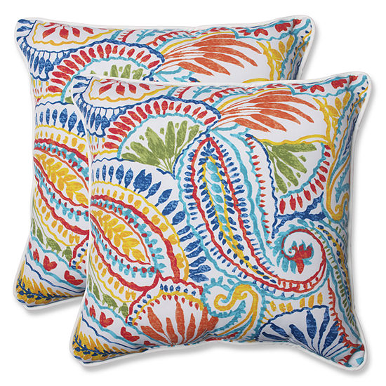 Pillow Perfect Ummi Square Outdoor Pillow - Set of2