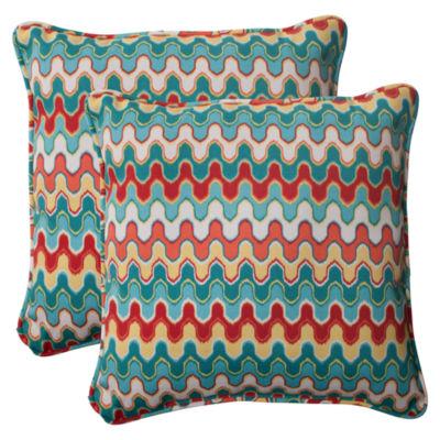 Pillow Perfect Nivala Square Outdoor Pillow - Setof 2