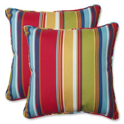 Pillow Perfect Westport Garden Square Outdoor Pillow - Set of 2