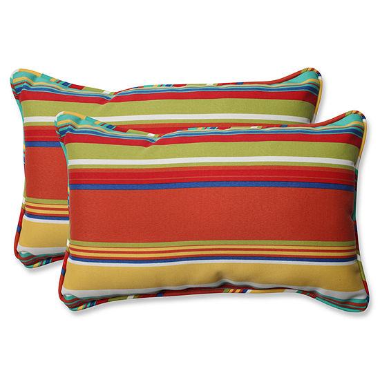 Pillow Perfect Westport Spring Rectangular OutdoorPillow - Set of 2