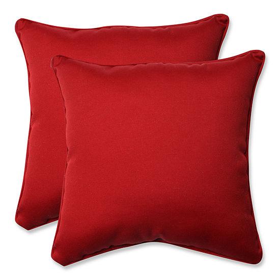 Pillow Perfect Pompeii Square Outdoor Pillow Setof 2