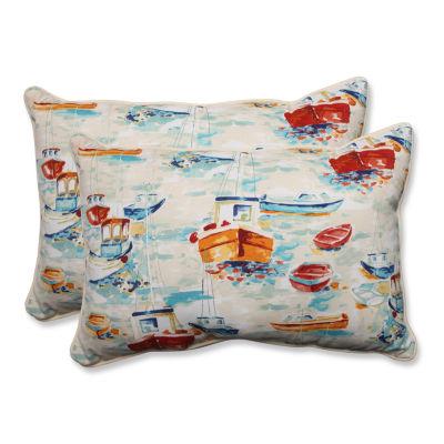 Pillow Perfect Spinnaker Bay Sailor Rectangular Outdoor Pillow - Set of 2