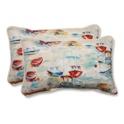 Pillow Perfect Spinnaker Bay Sailor Rectangular Outdoor Pillow - Set of 2