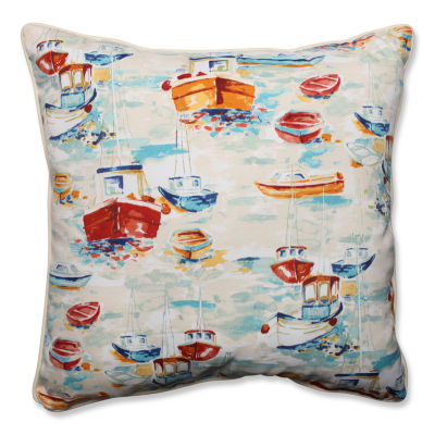 Pillow Perfect Spinnaker Bay Sailor Square OutdoorFloor Pillow