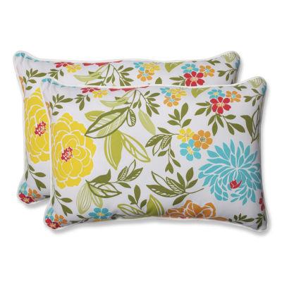 Pillow Perfect Spring Bling Rectangular Outdoor Pillow - Set of 2