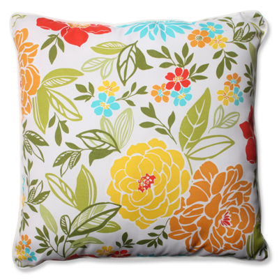 Pillow Perfect Spring Bling Square Outdoor Floor Pillow
