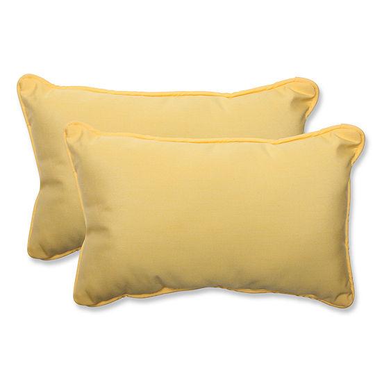 Pillow Perfect Pillow Perfect Rectangular OutdoorPillow with Sunbrella Fabric - Set of 2