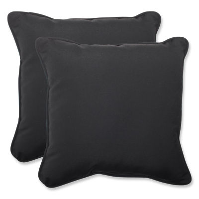 Pillow Perfect Pillow Perfect Square Outdoor Pillow with Sunbrella Fabric - Set of 2