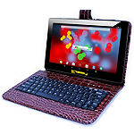"LINSAY 10.1"" 1280x800 IPS Screen Quad-Core 2GB RAM 16GB Android 9.0 Pie Tablet with Crocodile Keyboard Case"