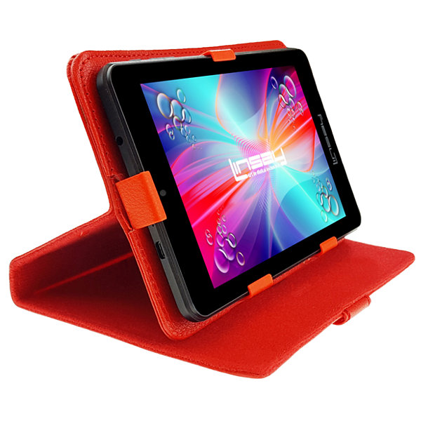 "LINSAY 7"" 1280x800 IPS Screen Quad Core Tablet with Leather Case"