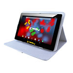 "LINSAY 10.1"" 1280x800 IPS Screen Quad Core 2GB RAM Android 8.0 Tablet 16GB with Squares Leather Case"