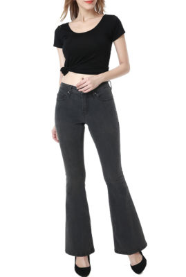 phistic Women's Melanie Zip Front Flare Jeans