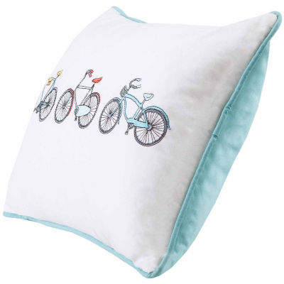 Cruz Bicycle Emb Cotton Oblong Throw Pillow