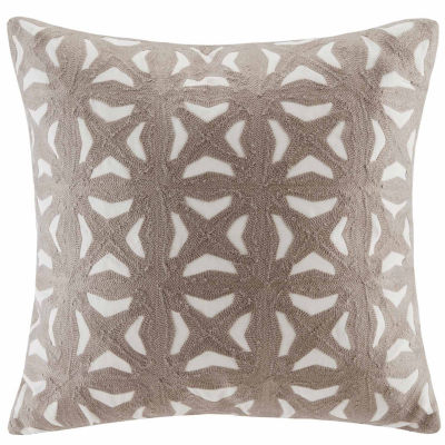 INK + IVY Nova Embroidered Fret Decorative Throw Pillow