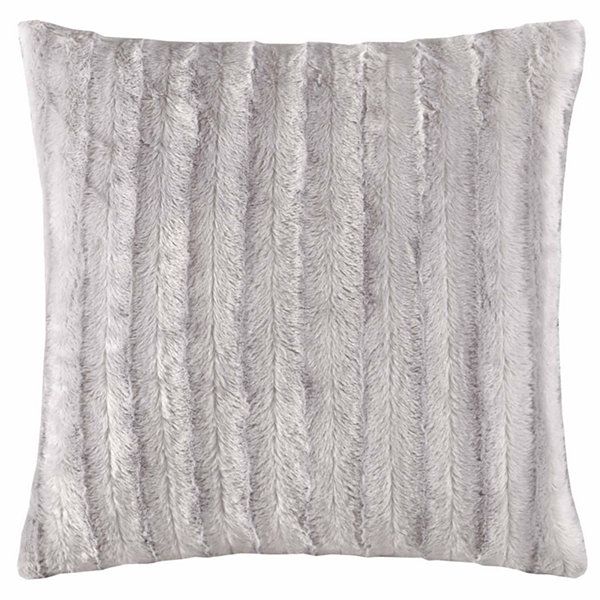 Madison Park York Faux Fur Square Throw Pillow