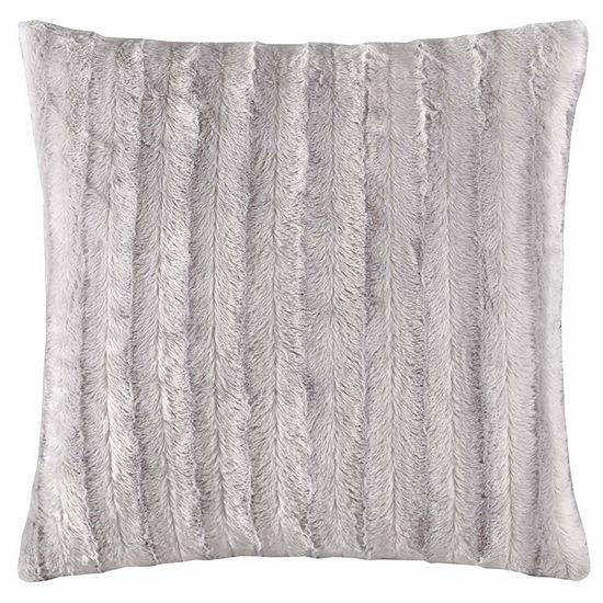 Madison Park York Faux Fur Square Throw Pillow