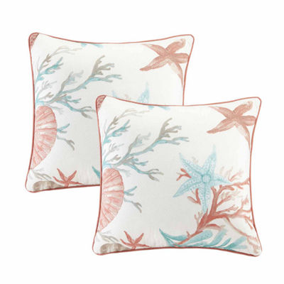 Madison Park Pacific Grove Cotton Square Throw Pillow Pair