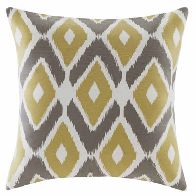 Madison Park Stetsen Diamond Printed Square ThrowPillow