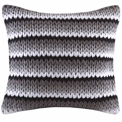 Madison Park Stripe Woven Square Throw Pillow