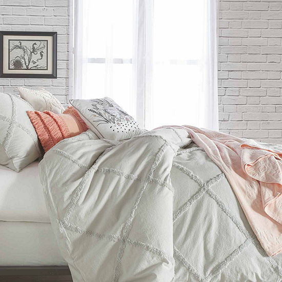 Peri Chenille Lattice Comforter and Sham Set