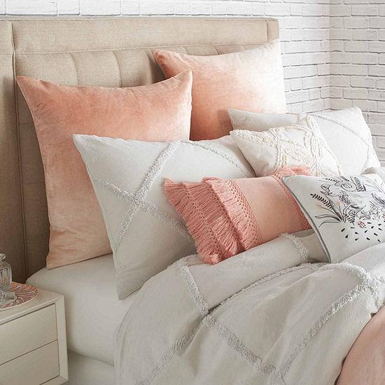 Peri Home Chenille Lattice Pillow Sham In Grey