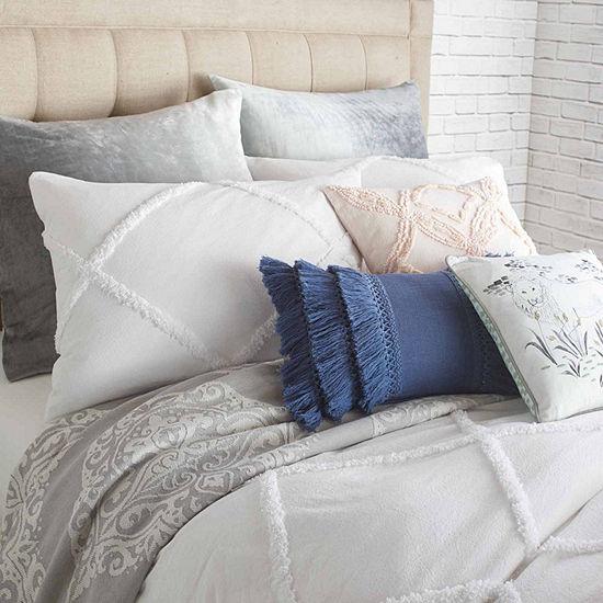 Peri Home Chenille Lattice Pillow Sham In White
