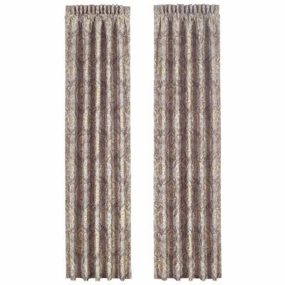 Queen Street Paulina Rod-Pocket Set of 2 Curtain Panel