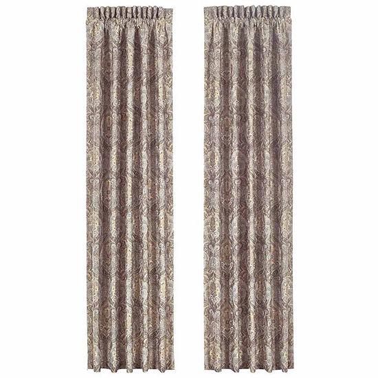 Queen Street Paulina Rod-Pocket Set of 2 Curtain Panel