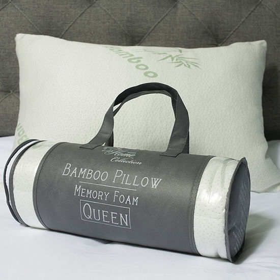 Sweet Home Collection Hypoallergenic Memory Foam Pillow with Carry Bag