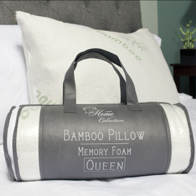 Sweet Home Collection Hypoallergenic Memory Foam Pillow 2-Pack with Carry Bag