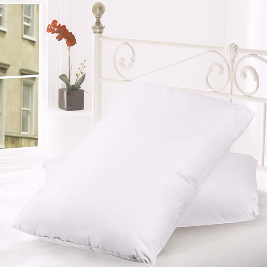 Sweet Home Collection Down and Feather Blend 100% Cotton Cover Premium Bed Pillow 2-Pack