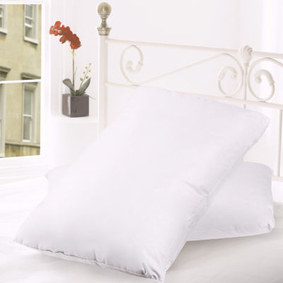 Down and Feather Blend 100% Cotton Cover Premium Bed Pillow 2-Pack All Sizes