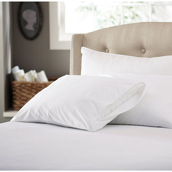 Sweet Home Collection 200 Thread Count Cotton Pillow Protector with Zipper 4-Pack