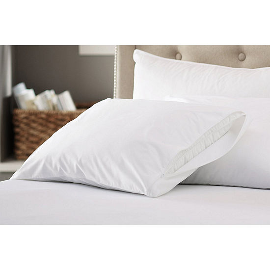 200 Thread Count 100% Cotton Made in USA Zippered Pillow Protector 4-Pack