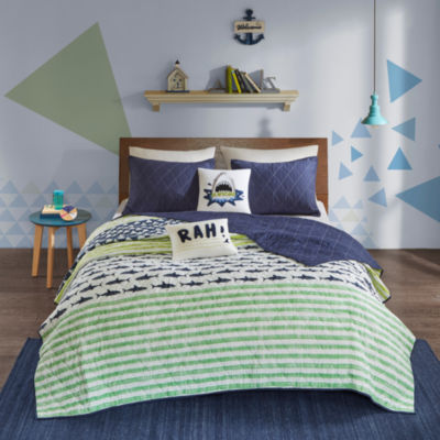 Urban Habitat Kids Aaron Cotton Stripes Coverlet Set