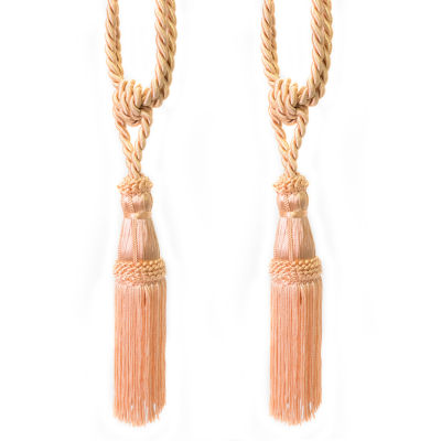 Decorative Rope Fringe Tassel Window Curtain Holdback Tie Back Pair