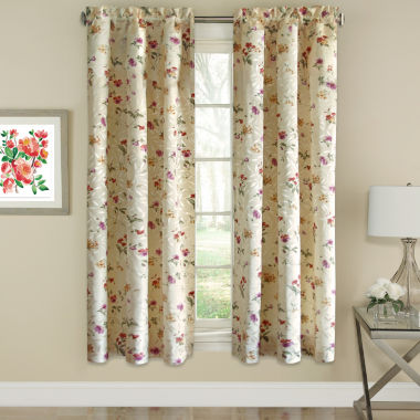 Floral Jacquard Window Curtain Panel Whitfield