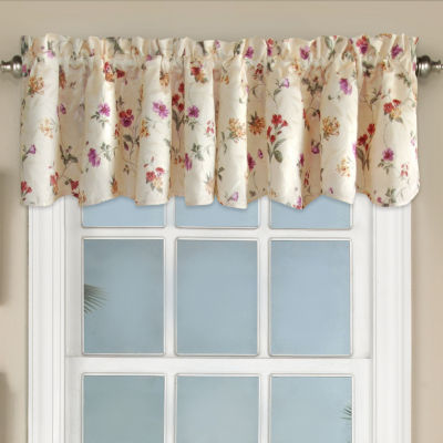 Floral Jacquard Window Curtain Panel Whitfield Valance
