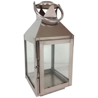 "St. Croix Trading 14"" Tall Aluminum Candle Lantern"""